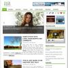 シンプルなグリーンのブログ用テーマ