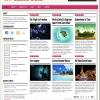 シンプルなピンクのブログ用テーマ