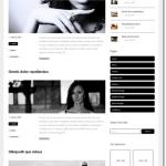 白黒のデザインテーマでシンプルにブログ