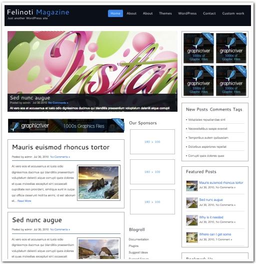 広告ブログ用デザインテーマ2011