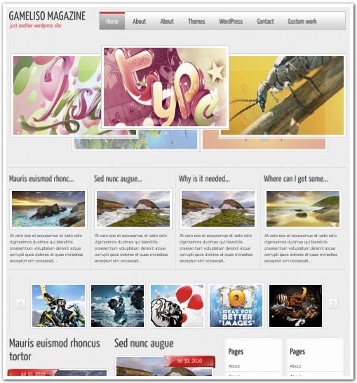 ユニークなブログ用テンプレート2011