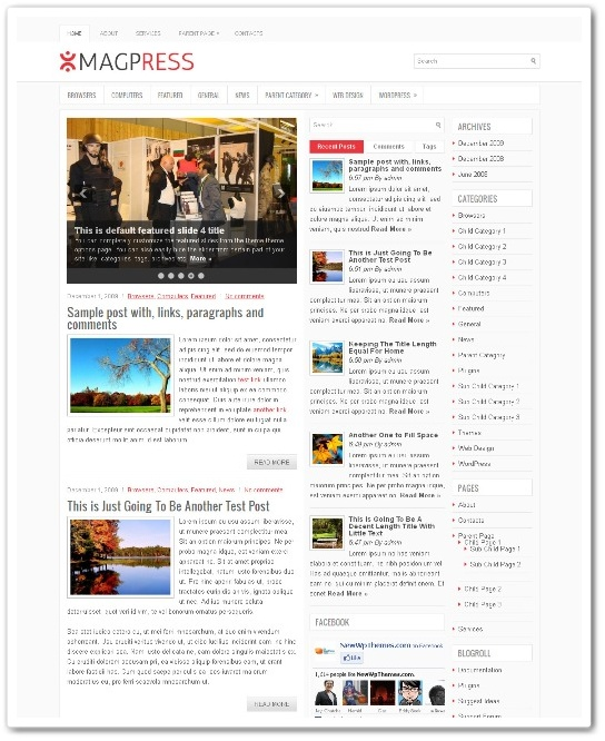 2012年辰年ビジネスもシンプルにブログテーマ