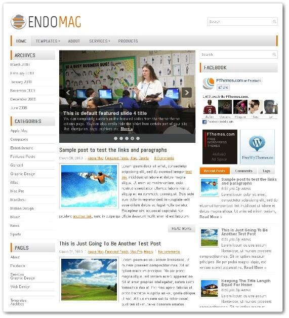 記事をカテゴリー分類したブログテーマ