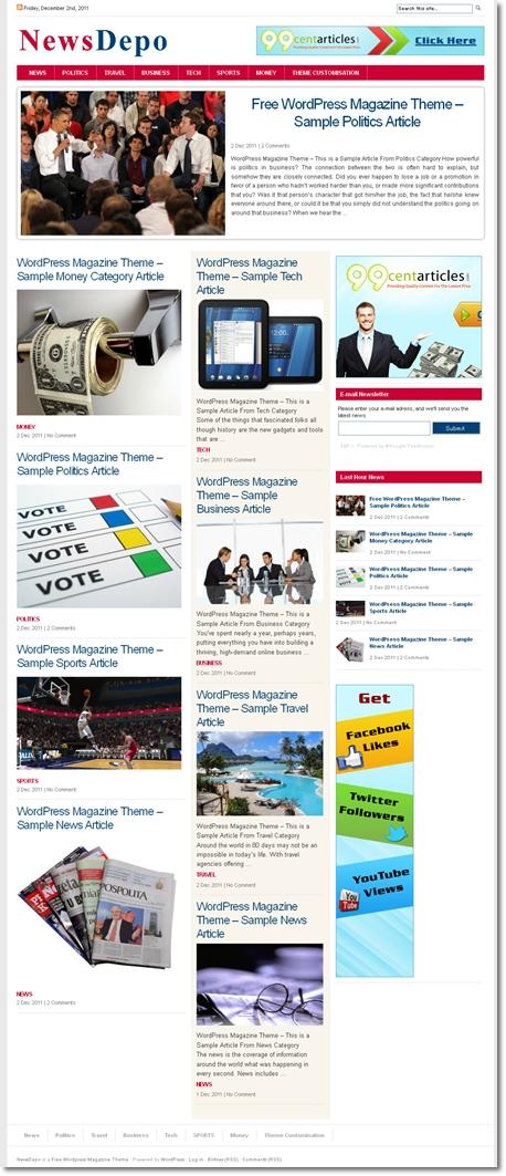 企業ニュースをブログ形式で運用するテーマ