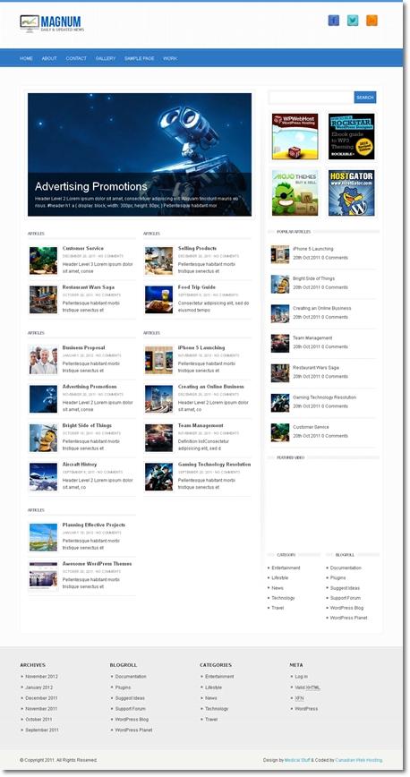 多様なブログ記事を一面に魅せるテーマ