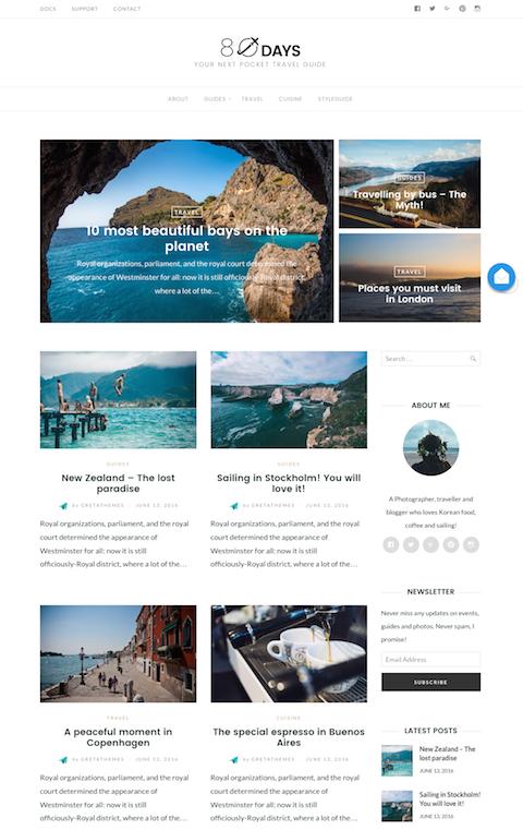 旅を綴るブログデザイン