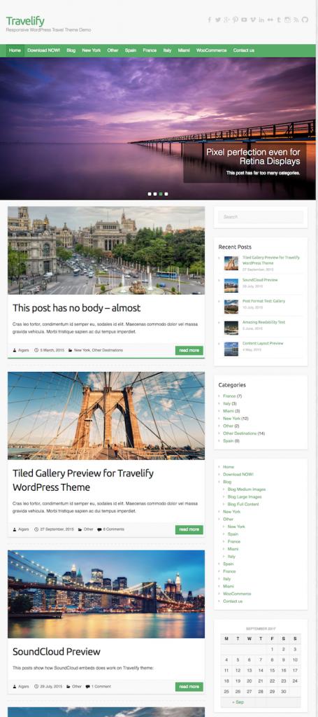 旅するブログのテンプレート